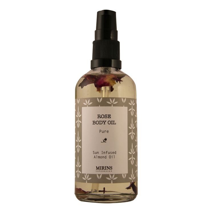 Rose Body Oil - Sun infused Almond Oil with Rose Petals Hydrating and nourishing. Apply after shower or bath Ingredients Almond Oil, Rose Petals Size: 100ml
