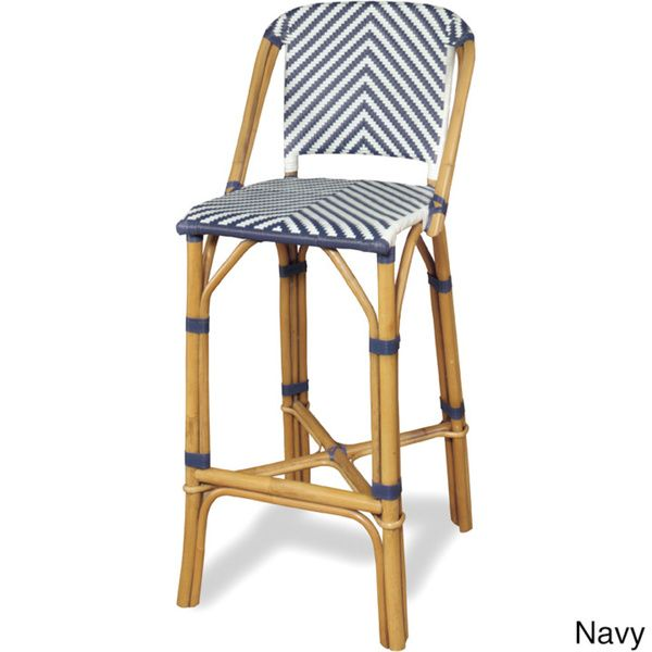 Progressive Rum Point Rattan Bar Stool