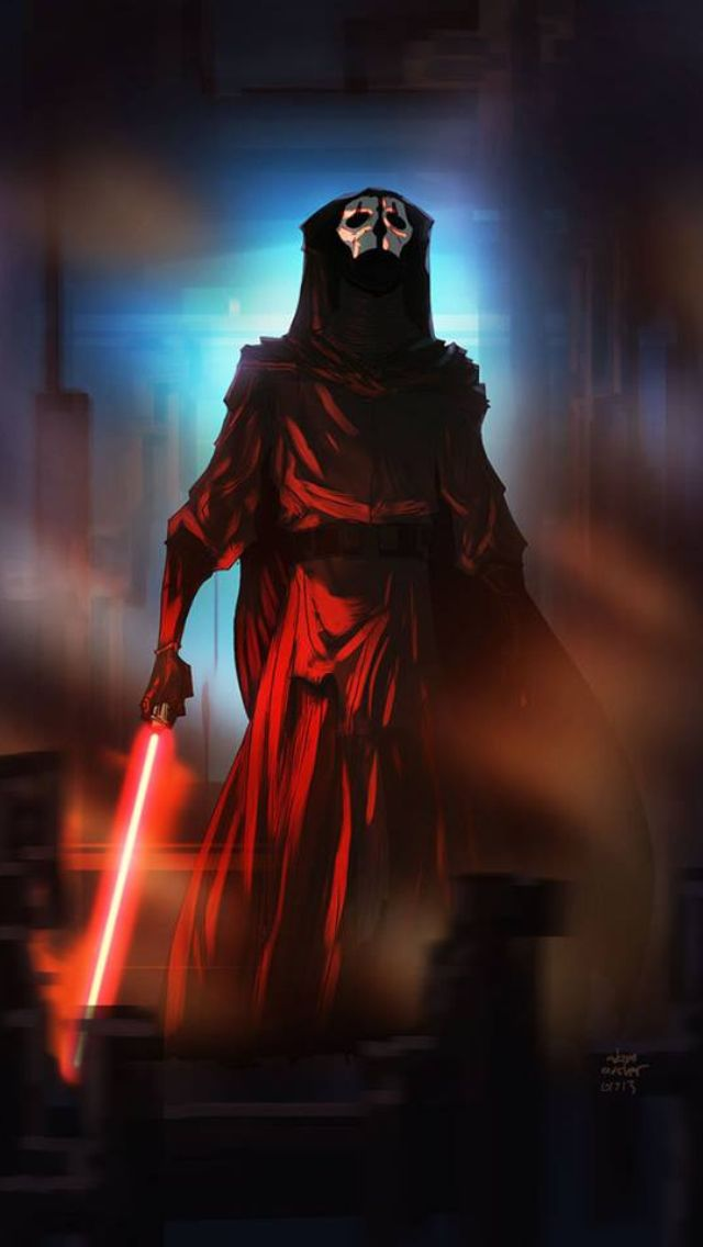 Darth Nihilus, if it weren't for his hunger he'd be the most powerful Sith Lord in existence.