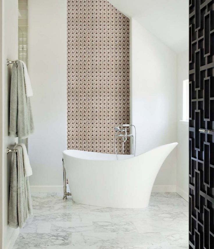 Creating a luxurious and mesmerizing #decor in your #bathroom by covering your walls with beautiful wall cladding tiles from #Capstona.  To order, visit https://www.capstona.com/