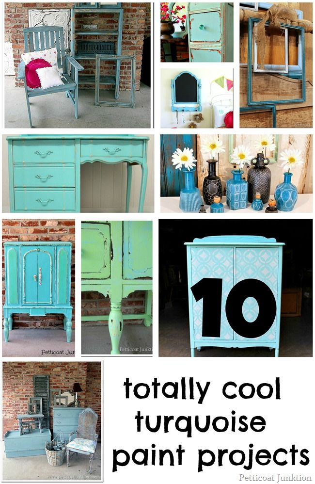 gallery of totally cool turquoise paint projects