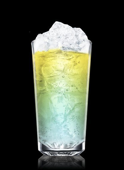 Cupids Blue - Fill a chilled highball glass with ice cubes. Add Absolut Vodka and blue curacao. Top up with lemonade. 2 Parts Absolut Vodka, 1 Part Blue Curacao, Lemonade