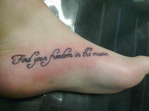 the dark quote tattoo: Tattoo Spot Dance Quote Tattoos Music Tattoos ...
