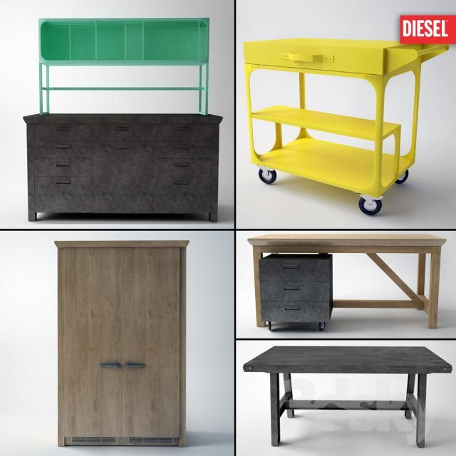 DIESEL with SCAVOLINI.Nabor kitchen furniture