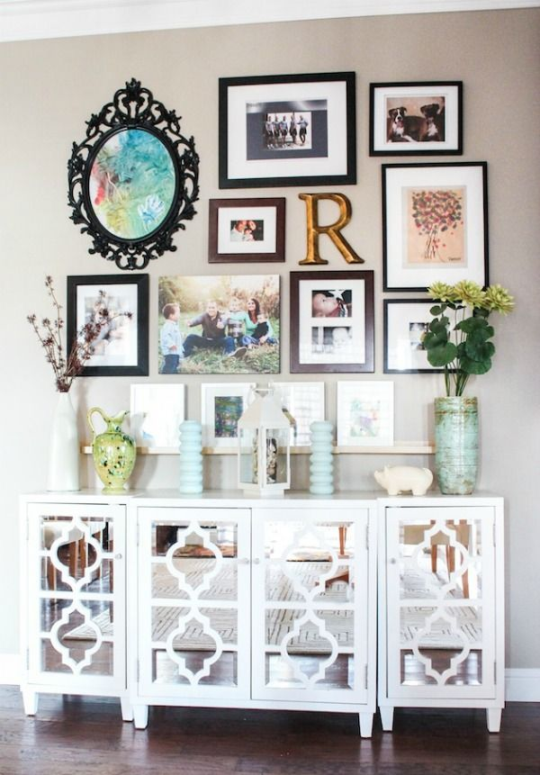 Small Picture Frame Collage Wall
