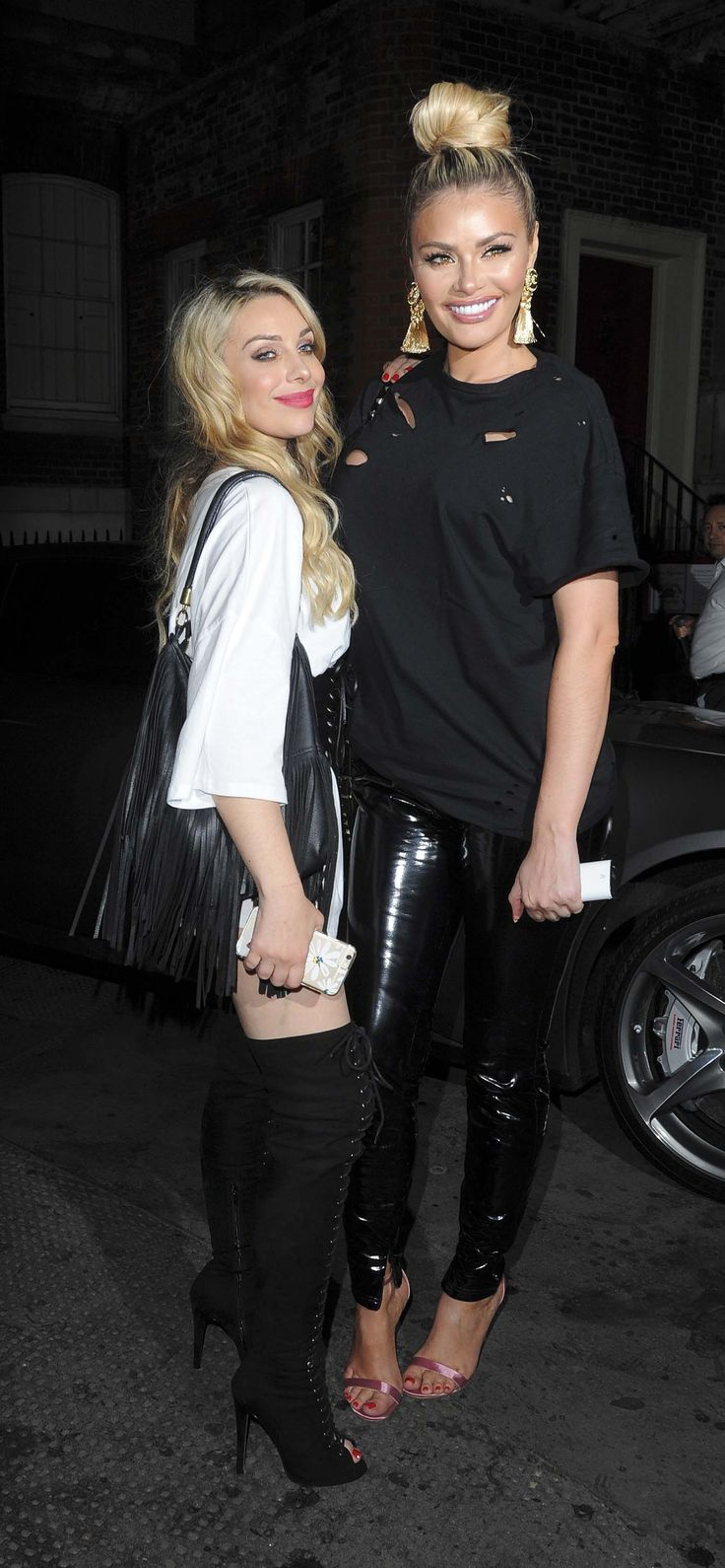 Chloe Sims arriving at the Chiltern Firehouse & Maddox Club