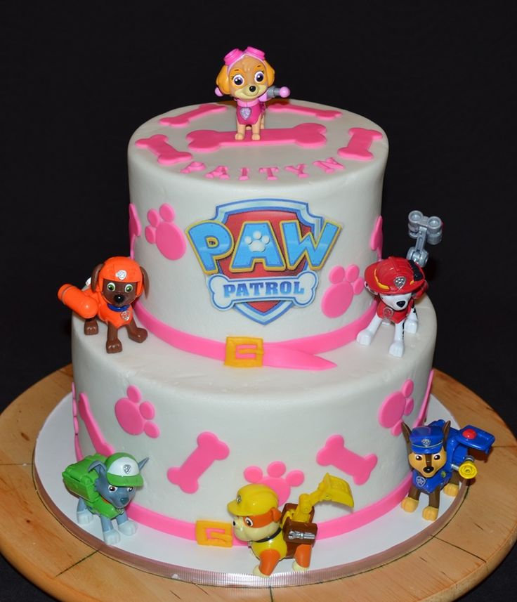Images Of Paw Patrol Birthday Cake : Skye is flying high atop this awesome PAW Patrol Birthday ...