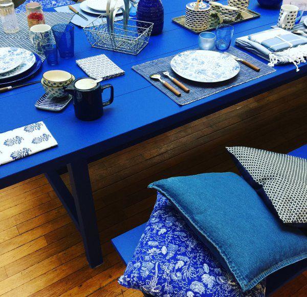 Du bleu dans la déco / Bleu decoration by Monoprix