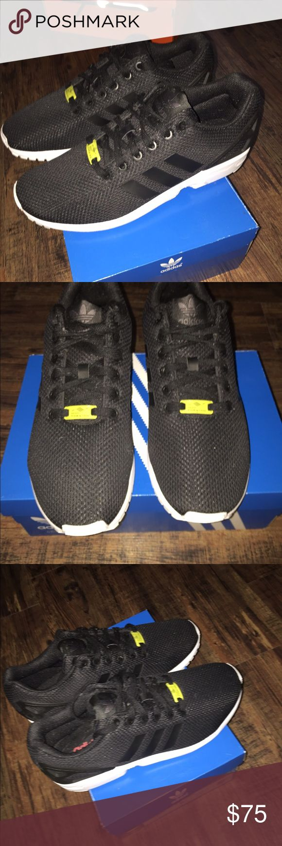 Adidas zx flux shoes Here I have are a pair of Adidas zx flux they are  brand New and not worn at all , They are super clean even the bottoms and inside .  and size 9.5 Adidas Shoes Athletic Shoes