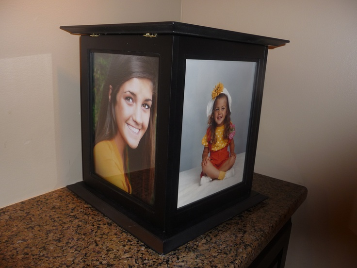 Graduation Card Boxes for cards with money in them...locking, rotating display baby photos, senior pictures  www.theperfectcardbox.com