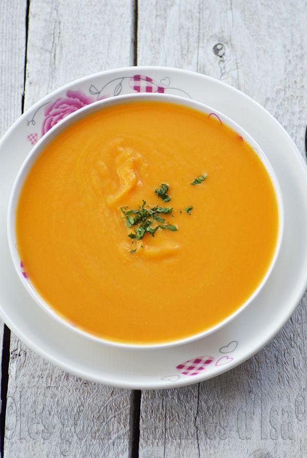 patates douces, carottes, soupe, pommes, gingembre, coriandre,