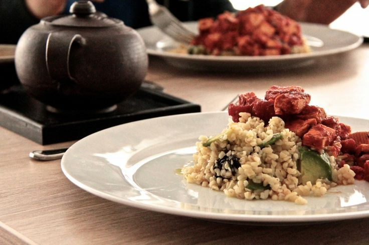 Marinated Tofu and Bulgur Salad