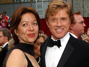 Robert Redford with his second wife Sibylle Szaggars
