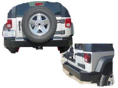 2012 JEEP WRANGLER (JK) Tomken Machine Rear Bumper in Black Powder Coat: Rear Bumper in Black… #AutoParts #CarParts #Cars #Automobiles