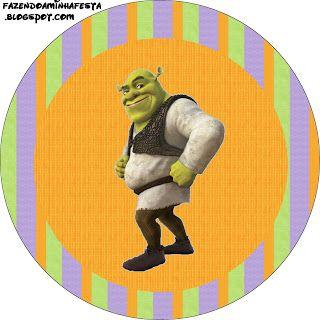Shrek - Kit Completo com molduras para convites, rótulos para guloseimas, lembrancinhas e imagens!