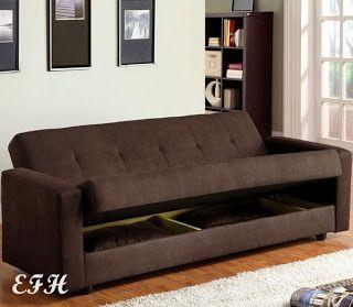 "Futon with Storage. ""JANSEN"" FUTON SOFA BED on ebay for home office"