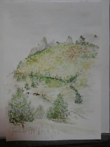 Watercolor, Ai-Petry, Crimea