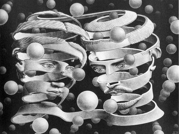 MC Escher, Bond of Union, 1956. S)