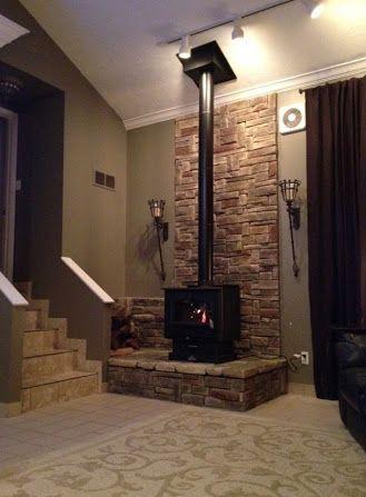 stone freestanding fireplace nz - Google Search                              …