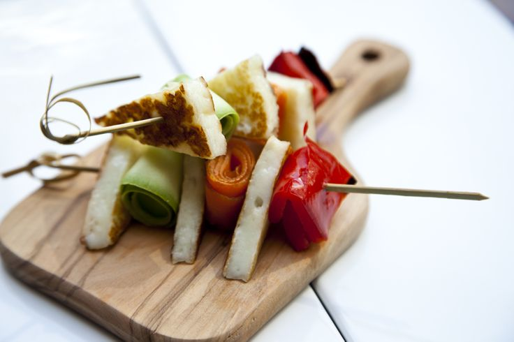 grilled halloumi & vegetables... #bytesize #catering #food