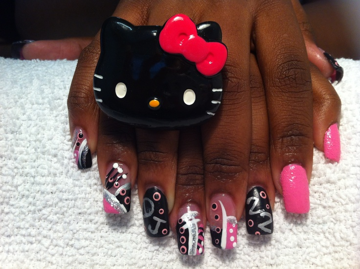 64 best my nail designs images on pinterest nail designs clients boyfriends initials jersey number topped prinsesfo Gallery