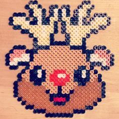 rudolf the rednosed reindeer 3d perler - Google Search