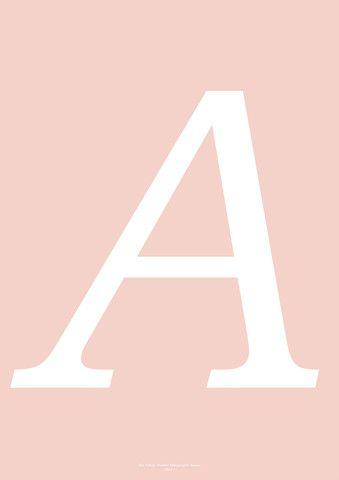 Typography Art Print - 'A'
