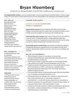career highlights and major achievements as resume headings executive resume templates word