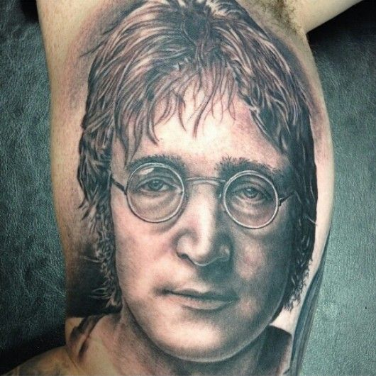 john lennon portrait by amir marziparo dr ink tattoos myrtle beach sc tattoos portrait. Black Bedroom Furniture Sets. Home Design Ideas
