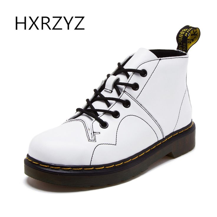 Spring new fashion Women's autumn shoes ankle boots of genuine leather womens winter boots female lace-up rubber boots for women #Affiliate