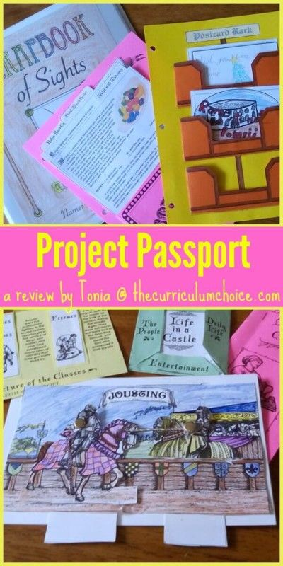 Learn history with Project Passport - lots of fun hands-on projects perfect for homeschooling history. We LOVE the products from Home School in the Woods!