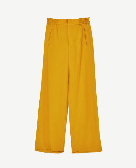Image 8 of HIGH WAIST WIDE TROUSERS from Zara