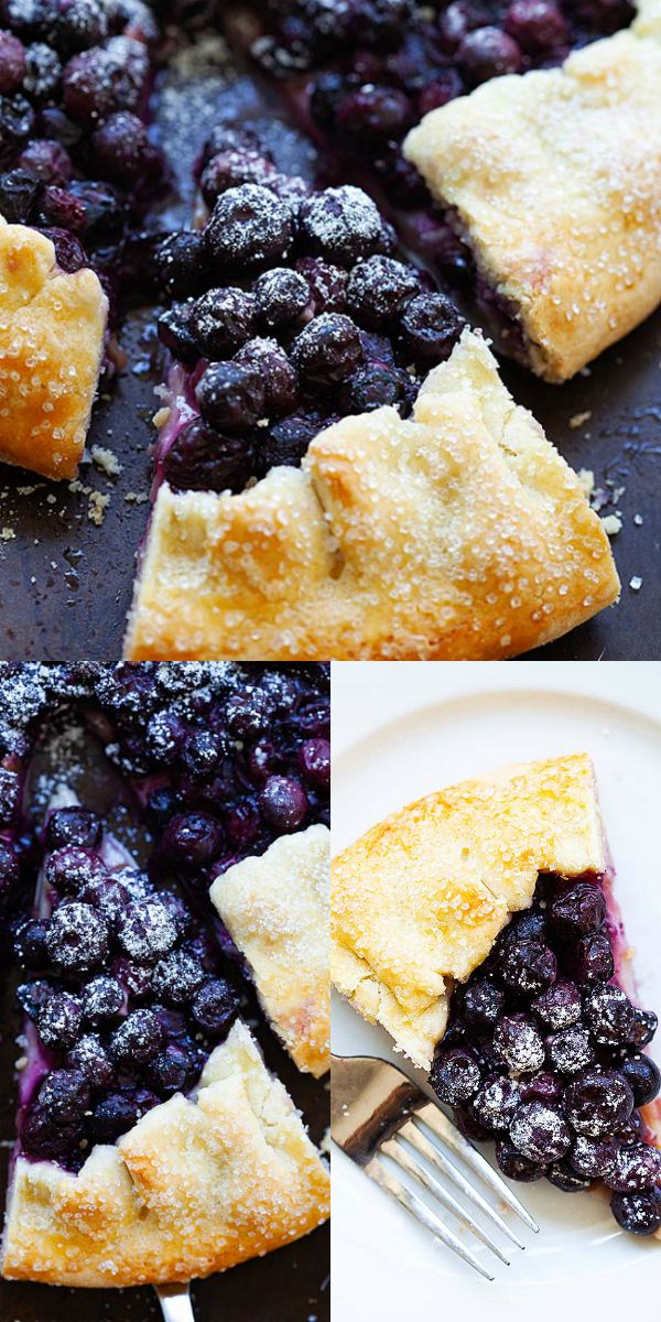 Blueberry Galette Is A Fruit Dessert With Juicy Fresh Blueberries