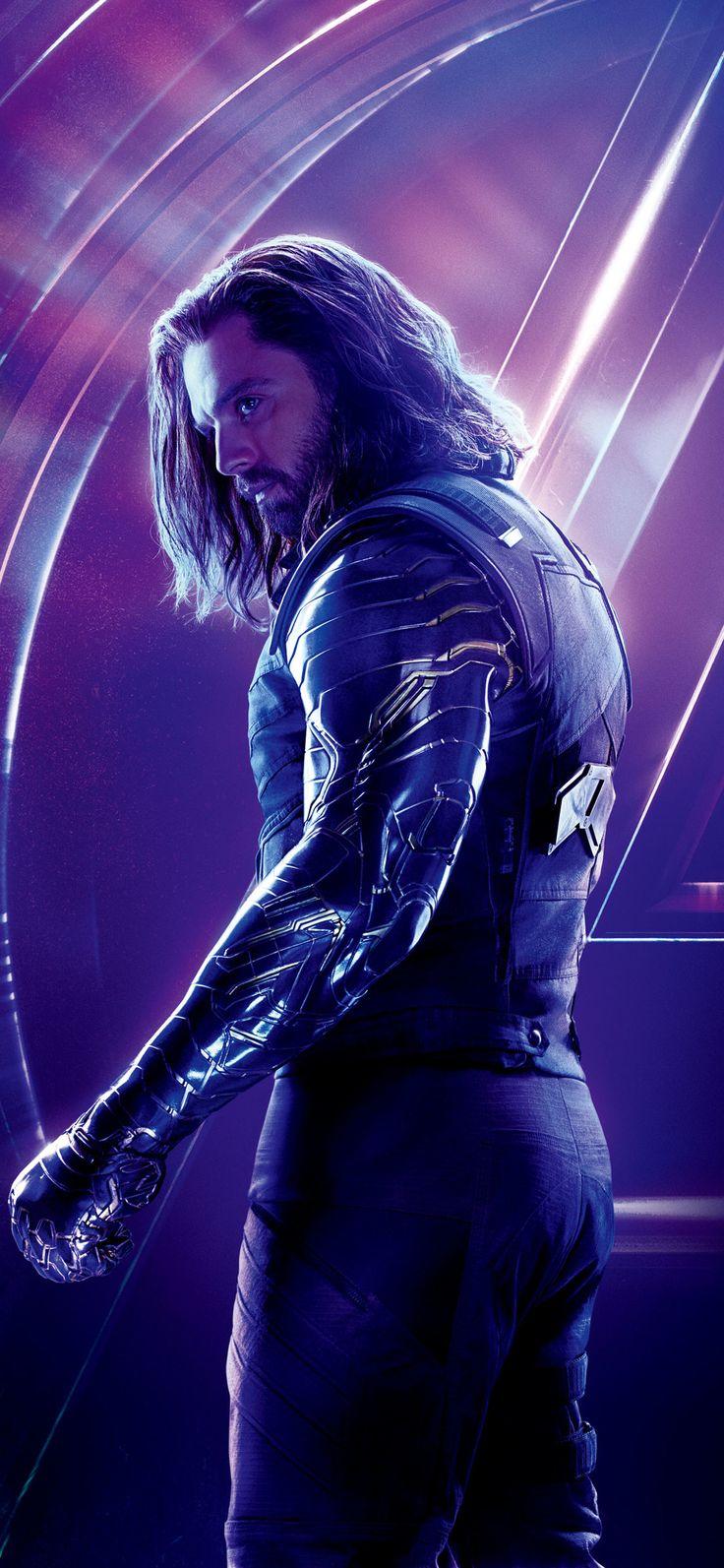1125x2436 Bucky Barnes In Avengers Infinity War 8k Poster