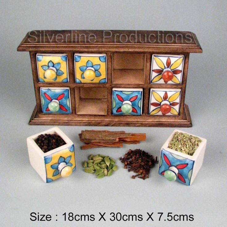 Kitchen Spice Cabinet with 8 ceramic drawer