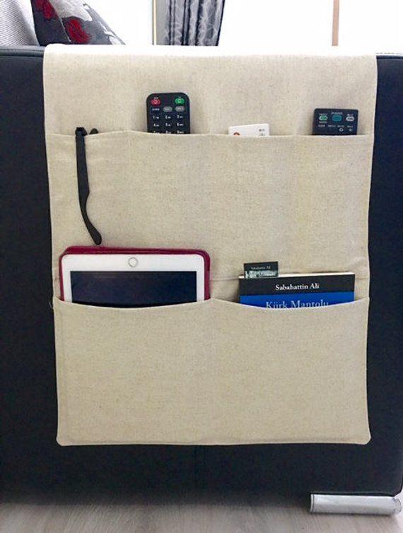 Linen Fabric Organizer Remote Control Holder Remote Control