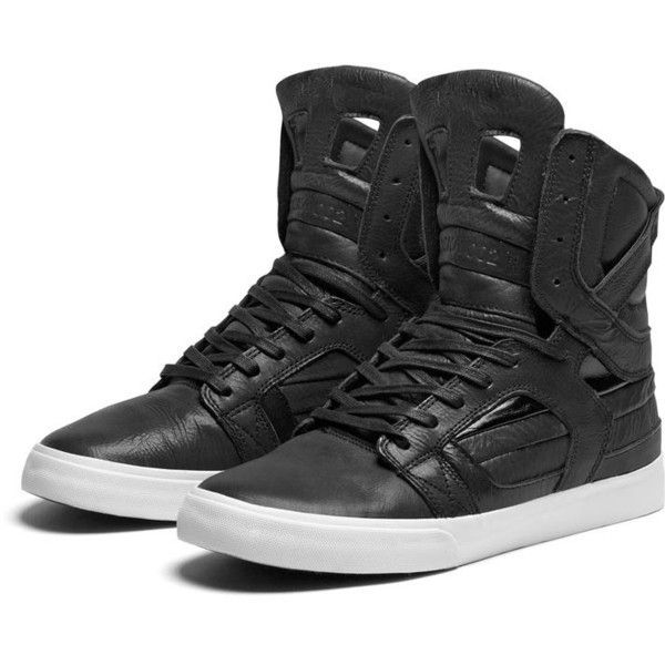 SUPRA SKYTOP II Shoe | BLACK - WHITE | Official SUPRA Footwear Site (190 CAD) ❤ liked on Polyvore featuring shoes, sneakers, supras, zapatos, high tops, supra shoes, white and black shoes, high top sneakers, high top trainers and supra high tops
