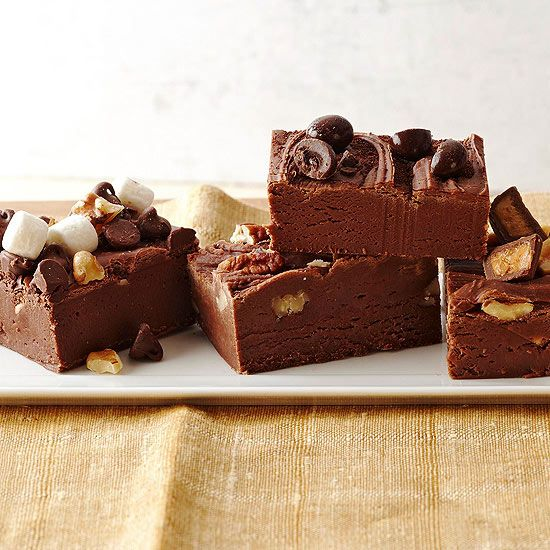 If fudge isn't on your holiday baking list already, you won't be sorry adding this delicious (and easy) chocolate fudge to your repertoire: http://www.bhg.com/recipes/desserts/chocolate/dark-chocolate-dessert-recipes/?socsrc=bhgpin100213chocolatefudge&page=8