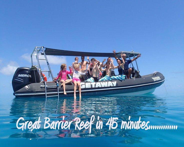 Fast RIB boat, less travel time !