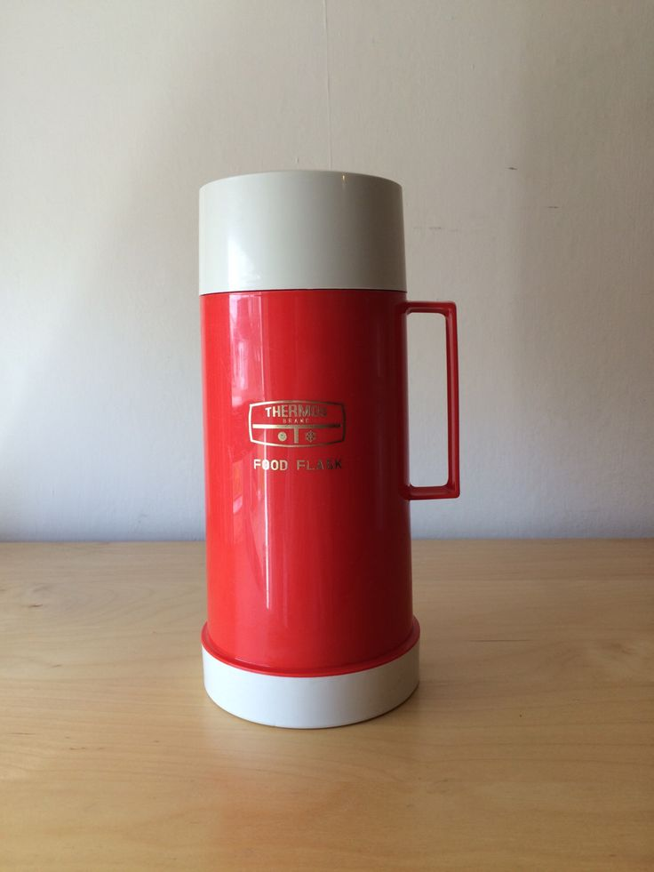 A personal favourite from my Etsy shop https://www.etsy.com/uk/listing/277543250/vintage-bright-red-thermos-food-flask-05