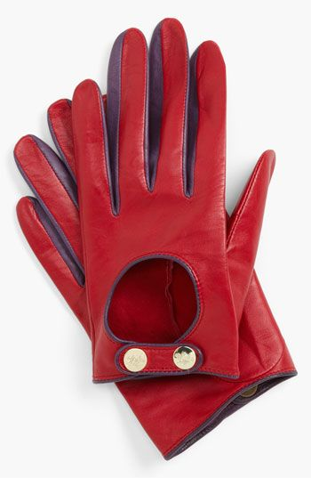 Ted Baker London Button Leather Gloves available at #Nordstrom