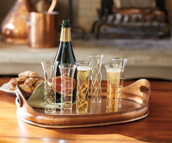 Champagne Swirl Glasses - Glassware - Tabletop - NapaStyle