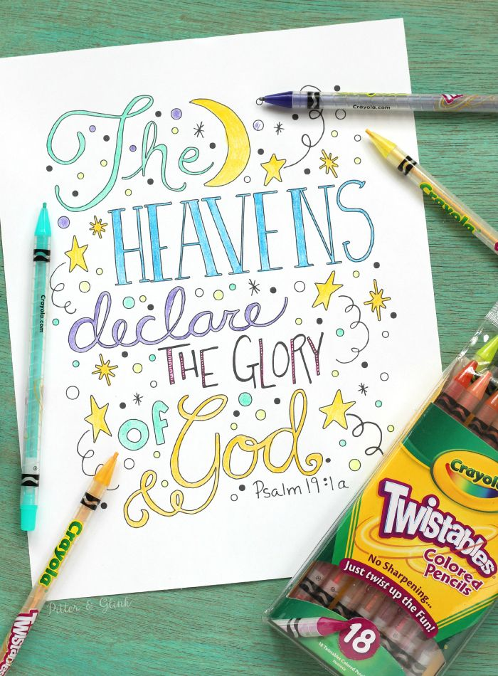 Free Hand-Lettered Bible Verse Coloring Sheet Printable