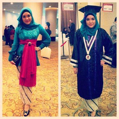 Hijab Style with Graduation Caps