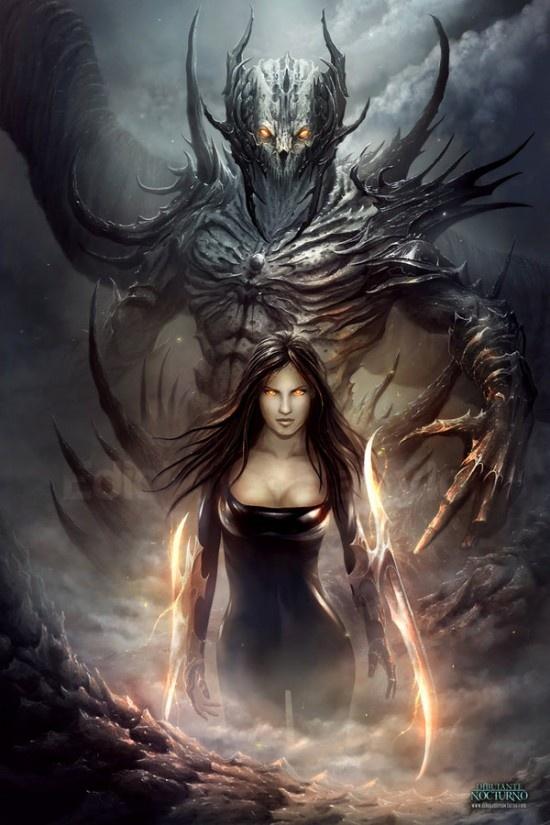 Fantasy Artwork. She's pretty badass looking lol