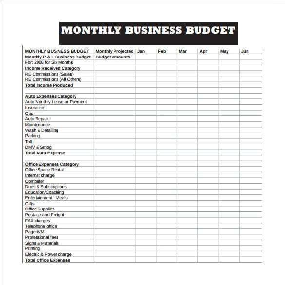 29 Business Budget Template Excel Business Budget Template