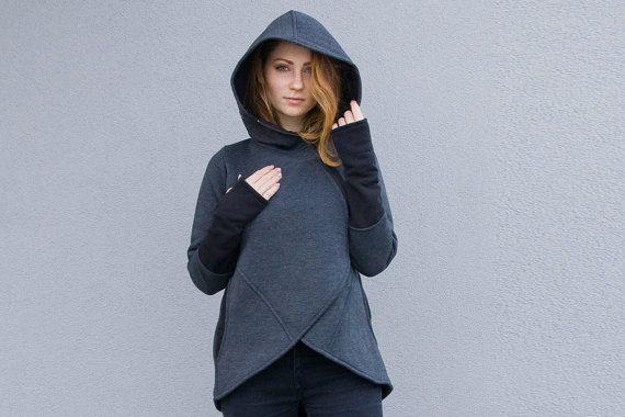 Women's Sweatshirt Warm Sweatshirt Tunic Cotton by clothesNavaho