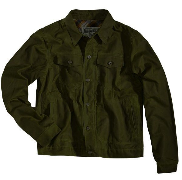 """ROKKER """"Wax Cotton Jacket"""" in racing green with armour pockets."""
