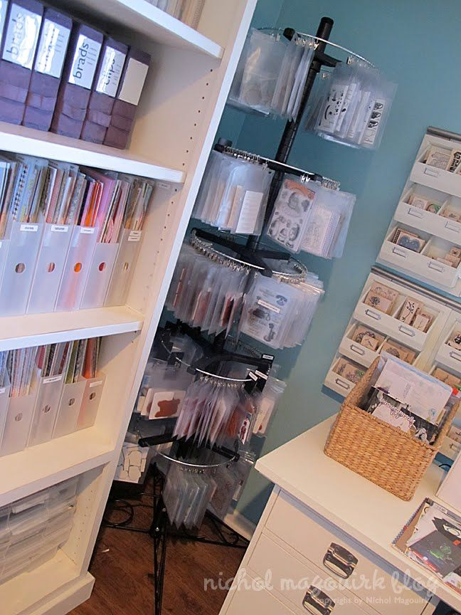 Nichol's Craft Studio  Nichol Magouirk has some fantastic stamp storage