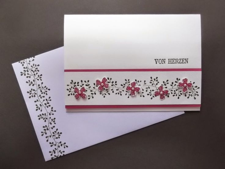 Sconebeker Stempelscheune - Stampin up Sets : Bordering Blooms, Eins für alle, Pictogram Punches